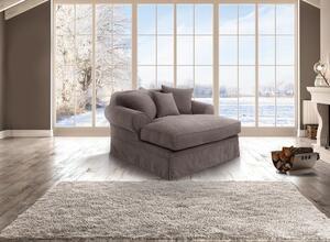 Max Winzer Hermine Longchair inkl. Zierkissen - Farbe: stein - Maße: 152 cm x 163 cm x 93 cm; 30381-6299-2051764-KUN