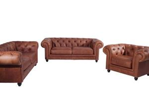 Max Winzer Orleans Sessel - Farbe: cognac - Maße: 135 cm x 100 cm x 77 cm; 2911-1100-9370036-F07