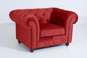 Max Winzer Orleans Sessel - Farbe: ziegel - Maße: 135 cm x 100 cm x 77 cm; 2911-1100-2044276-F07