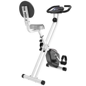 HOMCOM Heimtrainer Fahrradtrainer mit 8 stufig einstellbarem Magnetwiderstand höhenverstellbar Stahl Schwarz 43x97x109 cm