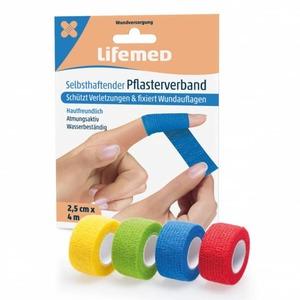 Lifemed® - Pflasterverband einfarbig - ca. 4 m x 2,5 cm - 1 Stück