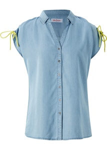 Jeansbluse aus TENCEL™ Lyocell