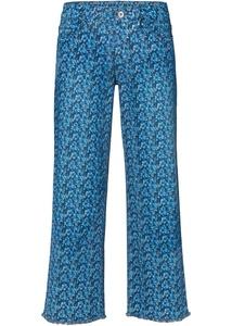 Culotte-Jeans mit Blumenprint