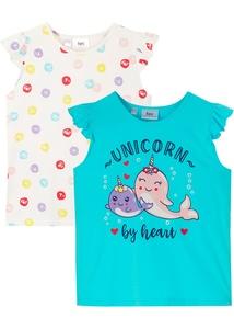 Mädchen T-Shirt (2er-Pack) aus Bio-Baumwolle