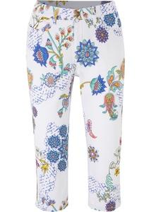 Stretch-Capri-Jeans, bedruckt