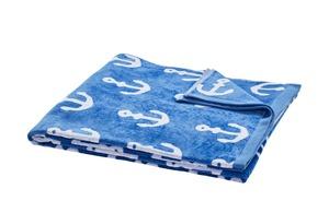 LAVIDA Strandtuch - blau - 100% Baumwolle - 90 cm