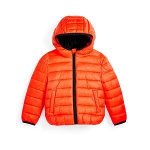 Orange Pufferjacke (kleine Jungen)