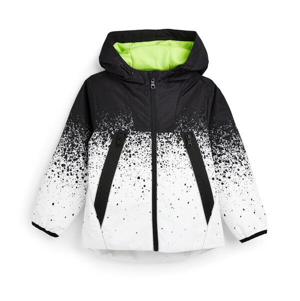 Monochrome Trainingsjacke mit Farbspritzern (kleine Jungen)
