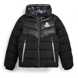 """Schwarzer """"PlayStation"""" Mantel (Teeny Boys)"""