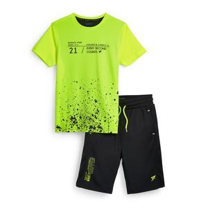 Grünes, 2-teiliges Active-Set (Teeny Boys)