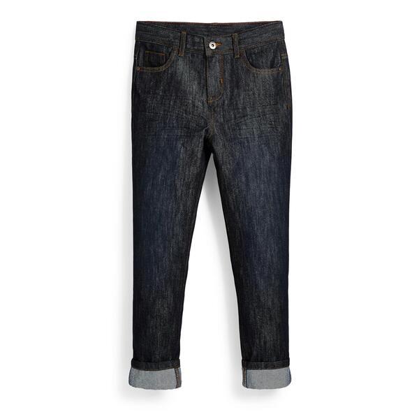 Marineblaue Jeans mit Rollsaum (Teeny Boys)