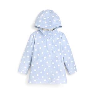 Blauer Regenmantel mit Punkten (kleine Mädchen)