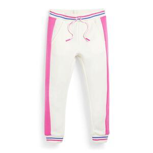 Weiße Jogginghose mit Seitenstreifen (kleine Mädchen)