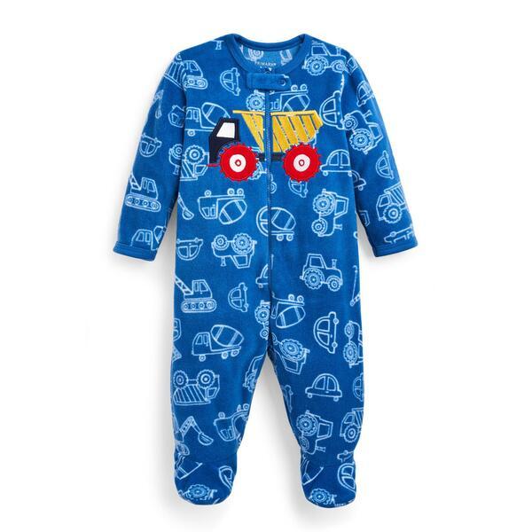 Blauer Schlafanzug mit LKW-Print für Babys (J)