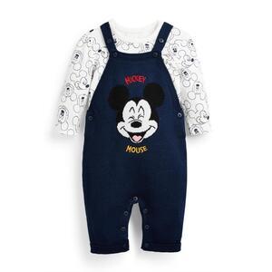 "Marineblaues ""Disney Micky Maus"" Latzhosen-Set für Babys (J), 2-teilig"