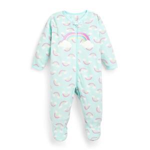 Mintgrüner Schlafanzug mit Regenbogen-Print für Babys (M)