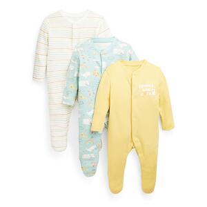 Schlafanzüge mit Tier-Print für Babys, 3er-Pack