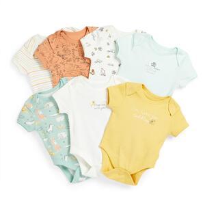 Bodys mit Tier-Print für Neugeborene (7er-Pack)