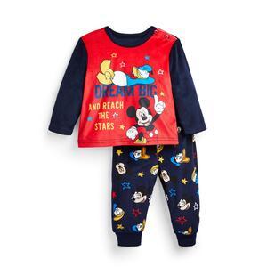 """Marineblauer flauschiger """"Disney Micky Maus"""" Pyjama für Babys (J)"""