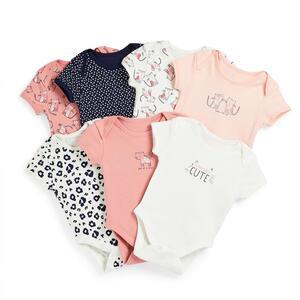 Bodys mit Kätzchen-Print für Babys (M), 7er-Pack