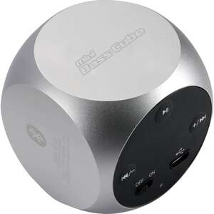 JayTech Mini bass Cube Xquare2 Lautsprecher - silber