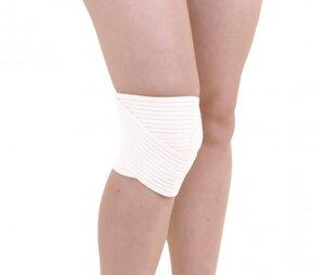 Kniebandage mit Anti-Rutschbeschichtung weiß