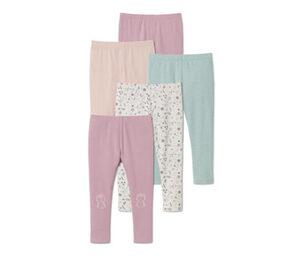 5 Jersey-Leggings, rosa, violett, Print