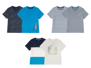 LUPILU® 2 Kleinkinder Jungen T-Shirts, mit Print