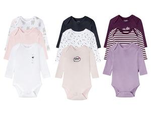 LUPILU® Baby Bodies Mädchen, 3 Stück, reine Baumwolle