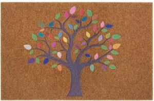 Fußmatte »Baum bunt«, my home, rechteckig, Höhe 10 mm, Schmutzfangmatte, In- und Outdoor geeignet