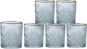 Leonique Whiskyglas »Orne«, Glas, mit ausdrucksstarkem Relief und Goldrand, 340 ml, 6-teilig