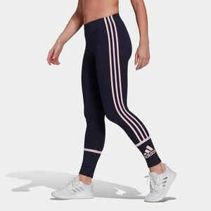 Leggings Fitness Colorblock Damen marineblau
