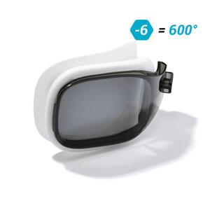 Schwimmbrillen-Glas Stärke -6.00 für Schwimmbrille Selfit Grösse S getönt