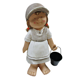 """Haveson              Dekofigur """"Mädchen mit Eimer"""", 48 cm"""