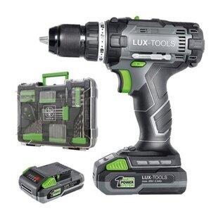 LUX Akku-Bohrschrauber 1 PowerSystem Mobile Werkstatt 20 V inkl. Koffer und Akku