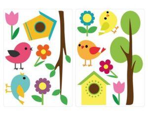 Wandtattoo Vögel mit Vogelhäuschen und Ästen Wandtattoos mehrfarbig Gr. one size