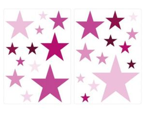 Wandtattoo Sterne Mädchen modern Wandtattoos pink Gr. one size