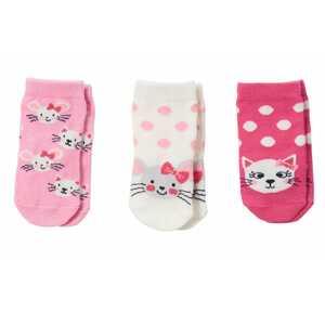 Baby-Mädchen-Socken mit Katzen und Mäusen, 3er-Pack
