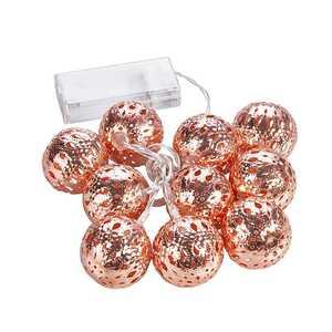 LED Lichterkette aus Metallbällen, ca. 120 cm, orientalisch, verschiedene Farben