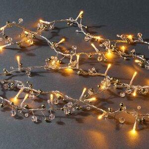 LED Lichterkette Perlen 40 Lichter mit USB-Batteriefach