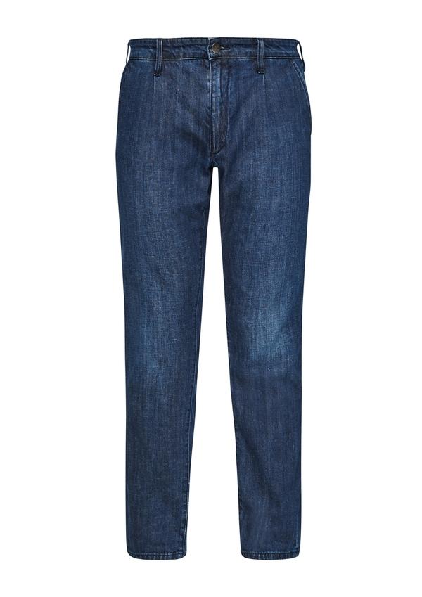 Herren Regular Fit: Jeans mit Leinen