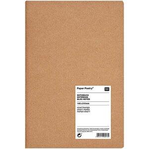 Paper Poetry Notizbuch braun A5 Kraftpapier unliniert