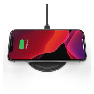 Belkin Boost Charge drahtloses Ladepad, 10 W, inkl. Micro-USB Kabel und Netzteil, schwarz