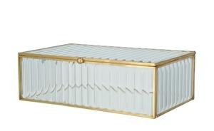 Aufbewahrungsbox - gold - Glas , Metall - 15 cm - 5,5 cm - 10 cm - Dekoration