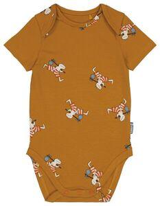HEMA Baby-Body, Biobaumwolle/Elasthan, Frosch Braun