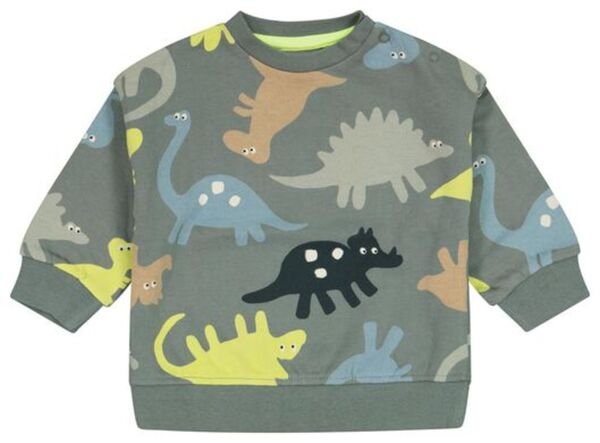 HEMA Baby-Sweatshirt, Dinosaurier Grün