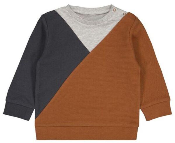 HEMA Baby-Sweatshirt, Colorblocking Braun