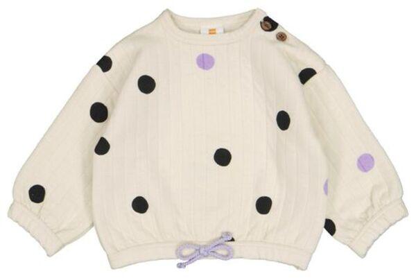 HEMA Baby-Sweatshirt, Punkte Eierschalenfarben