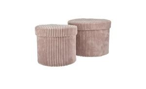 Aufbewahrungsbox, 2er-Set - rosa/pink - Karton - 16 cm - Aufbewahrung