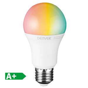 Denver WiFi-LED-Leuchtmittel Birne E27, RGB + White Light